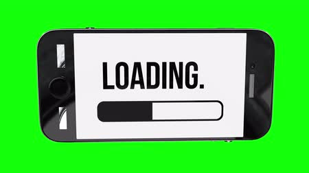 tampon : Smartphone with progress loading bar UI indicator Stok Video