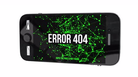 zarmoucený : Smartphone with Page Not Found Error 404