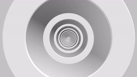 gry komputerowe : animation of flight in abstract futuristic tunnel