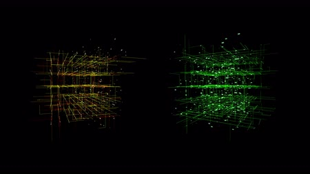 uznání : Big data visualization motion background.