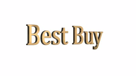 cupom : 3d gold text letters best buy sale. Inscription for motion posters, banners. Available in FullHD and HD video footage