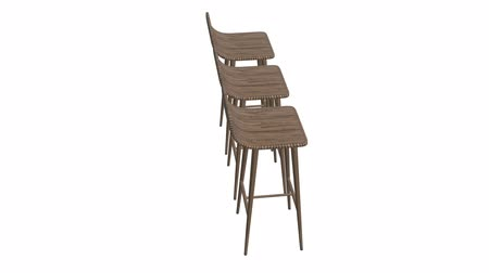 lugares sentados : Bar stool furniture 3d render. High chair. Bar interior design. Available in FullHD video render footage