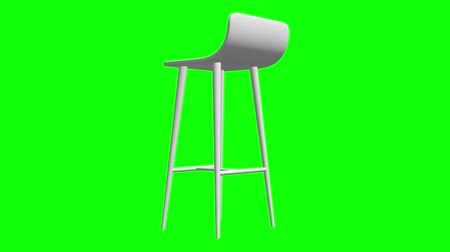 banquinho : Bar stool furniture 3d render. High chair. Bar interior design. Available in FullHD video render footage