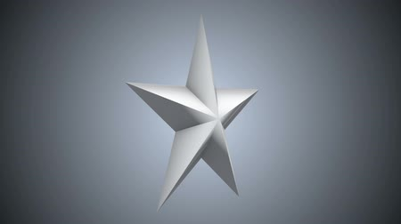 medal : White 3d star rotate. 3D render footage in Full HD. Chroma key green screen. Stock Footage