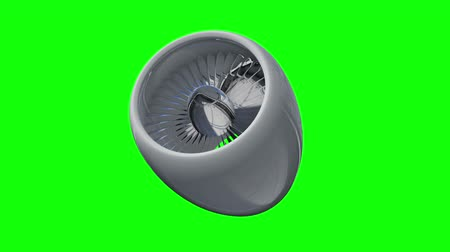 ventilátor : Turbo jet plane engine. Available in FullHD video render footage