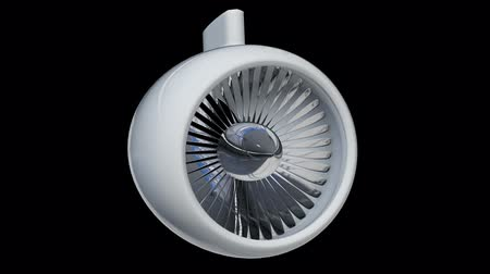 titanium : Turbo jet plane engine. Available in FullHD video render footage