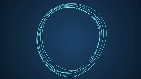 vonal : Hand Drawn Scribble Circle, logo design element. Motion graphic video available in 4K FullHD and HD render footage animation Stock mozgókép