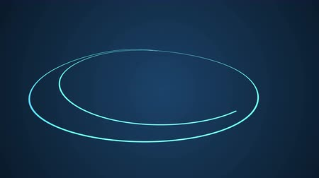 dairesel : Hand Drawn Scribble Circle, logo design element. Motion graphic video available in 4K FullHD and HD render footage animation Stok Video