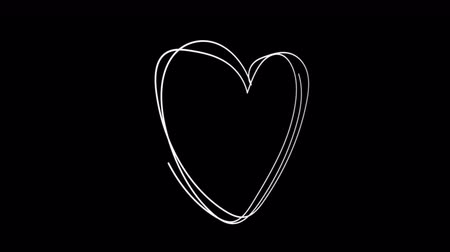 oblouky : Hand Drawn Scribble Heart, logo design element. Motion graphic video available in 4K FullHD and HD render footage animation