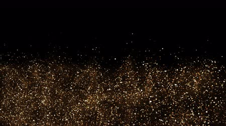 heavenly : Gold Sky. Abstract stardust smokey wave particles. Nano dynamic flow with 3d particles. Smoky dynamic wavy effect flow 4k and hd animation with abstract sparkles. Motion background.