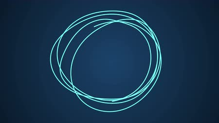 enclosure : Hand Drawn Scribble Circle, logo design element. Motion graphic video available in 4K FullHD and HD render footage animation Stock Footage