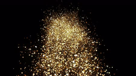 дымный : Gold Sky. Abstract stardust smokey wave particles. Nano dynamic flow with 3d particles. Smoky dynamic wavy effect flow 4k and hd animation with abstract sparkles. Motion background.