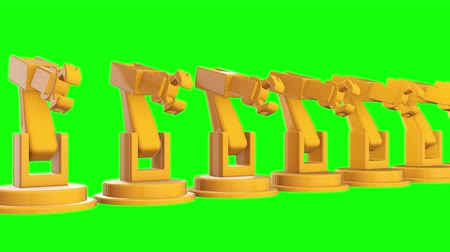 гидравлический : Robotic arm manufacture technology industry assembly mechanic hand 3d render video available in 4k FullHD and HD render footage.