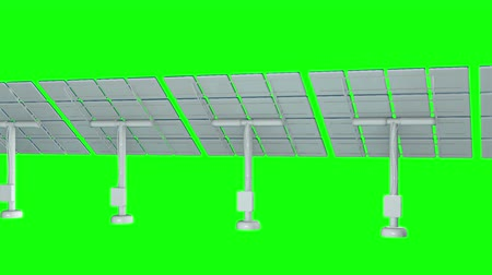 возобновляемый : Solar energy panel. 3d render video available in 4k FullHD and HD render footage.