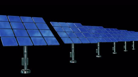 plněné : Solar energy panel. 3d render video available in 4k FullHD and HD render footage.