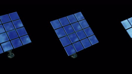 alternatives : Solar energy panel. 3d render video available in 4k FullHD and HD render footage.