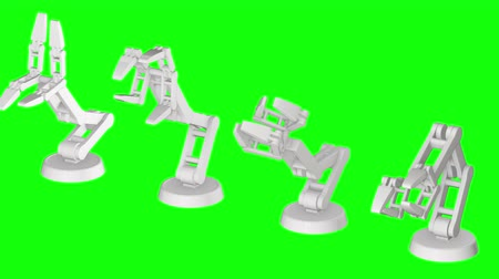 impianti idraulici : Robotic arm manufacture technology industry assembly mechanic hand 3d render video available in 4k FullHD and HD render footage.