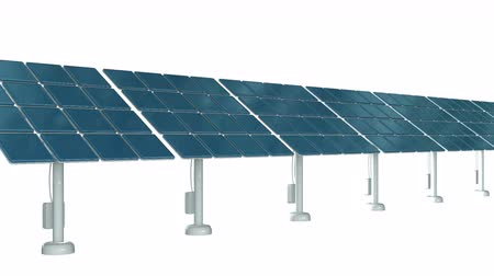 zonnestelsel : Solar energy panel. 3d render video available in 4k FullHD and HD render footage.