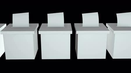 election campaign : Blank election box ballot campaign. Casting vote concept 3d render. Animation video available in 4k FullHD and HD render footage.