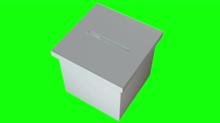 インサート : Blank election box ballot campaign. Casting vote concept 3d render. Animation video available in 4k FullHD and HD render footage.