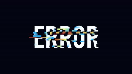 oeps : Glitched Page not found Error design motion graphic. Distorted glitch style modern background. Available in 4K FullHD video render footage
