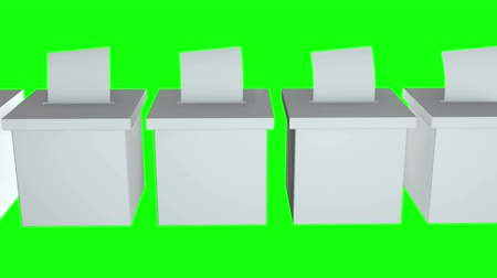 vínculo : Blank election box ballot campaign. Casting vote concept 3d render. Animation video available in 4k FullHD and HD render footage.