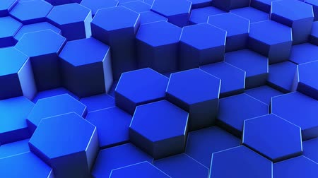 favo de mel : Hexagons honeycomb background abstract science design motion graphic. 3d render animation video available in 4k FullHD and HD render footage