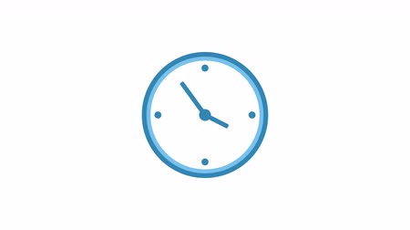 cronômetro : Stopwatch animated icon. Clock with moving arrows. Time run and timelapse. Cartoon flat animation of UI element available in 4K FullHD and HD video 2D render footage on white Stock Footage