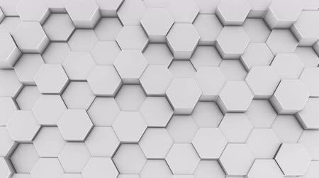 Hexagons blank honeycomb background abstract science design motion graphic. 3d render animation video available in 4k FullHD and HD render footage Dostupné videozáznamy