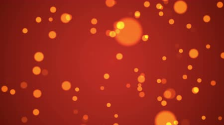 Abstract bokeh orange particles. 4k and hd animation with abstract sparkles. Motion background.