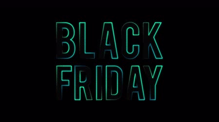 Black Friday sale text, moving lights. Animation video available in 4k FullHD and HD render footage