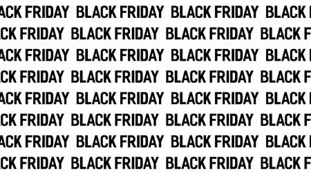 Black Friday Sale with many words. Motion Animation. Video available in 4K FullHD and HD render footage