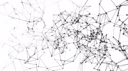 Abstract Network and Connect Moving Background. Dots Connected by Lines. Digital data and deep web concept. Video available in 4K FullHD and HD render footage