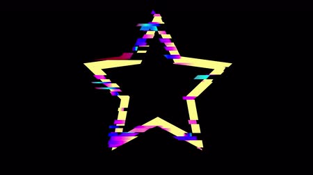 errado : Glitched star frame design motion graphic. Distorted glitch style modern background. Available in 4K FullHD video render footage