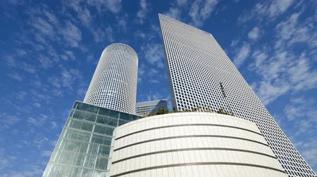 izrael : Azrieli tower largest business and commercial center in the middle east