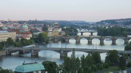 hradcany : bridges of prague illuminated at night including the famous charles bridge