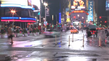 looking down : corner of new york city intersection timelapse Stock Footage