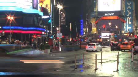 kereszt : Corner of New York city intersection timelapse