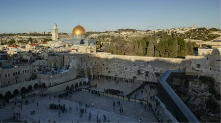 damasco : Dome of the rock temple mount Jerusalem Israel middle east time lapse