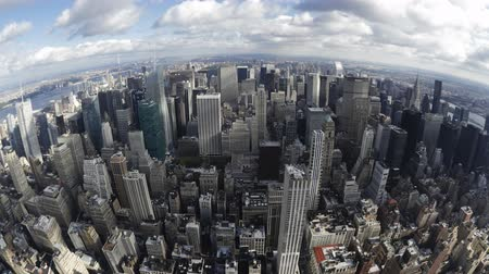 империя : Elevated day view of The Manhattan skyline from the empire state building