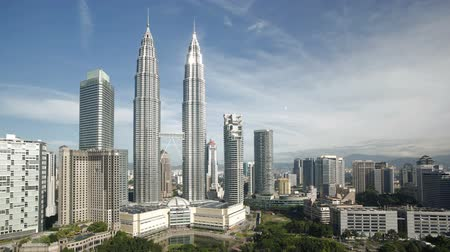 built up : steel and glass structures of the twin petronas towers kuala lumpur city