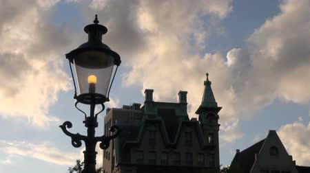 Street light and building timelapse