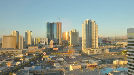 Time-lapse Las Vegas skyline zonsopgang Stockvideo