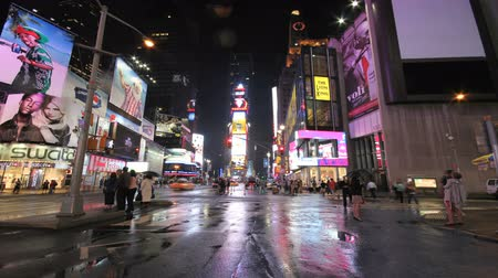 times : times square street at night timelapse