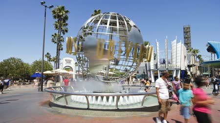 universal studios : Universal Studios Hollywood Los Angeles California USA North America time laps Stock Footage