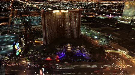 Vegas strip time-lapse weergave Stockvideo