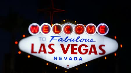 Welcome to Las Vegas sign Las Vegas Nevada United States of America time lapse