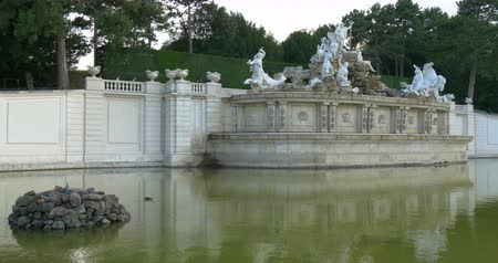 schonbrunn : Neptune Fountain in Schonbrunn Palace gardens in Vienna, Austria. Building of the pool began in 1776 and the fountain was completed four years later.