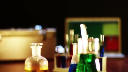 chemistry : CSI laboratory scene dolly shot