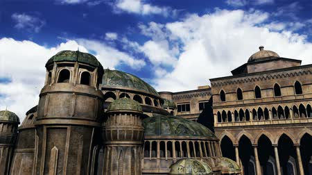 церковь : Byzantine Constantinople Clouds Timelapse  Realistic 3D render and clouds timelapse